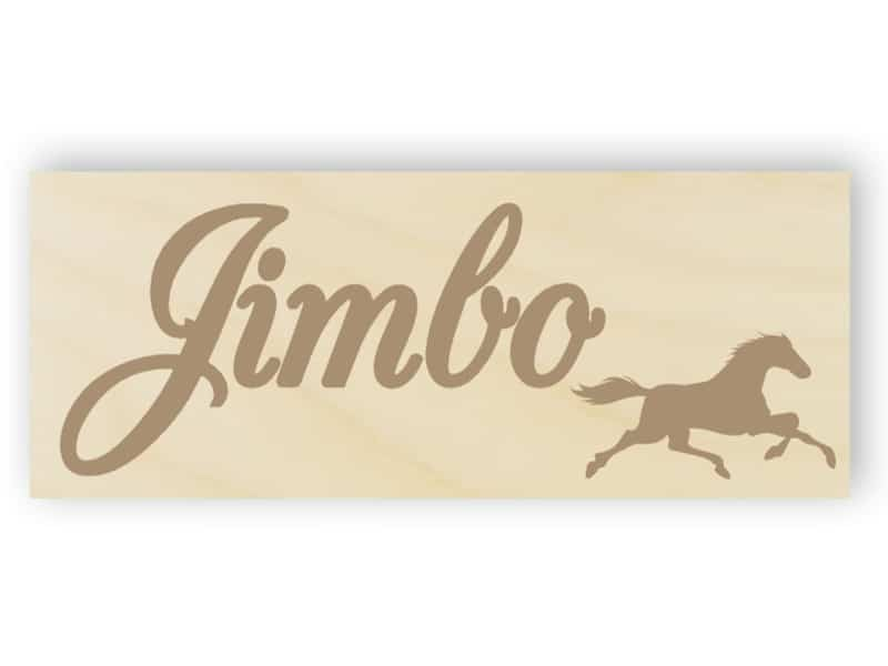 Wooden horse name sign