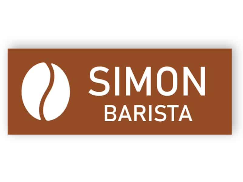 Coffee name tag