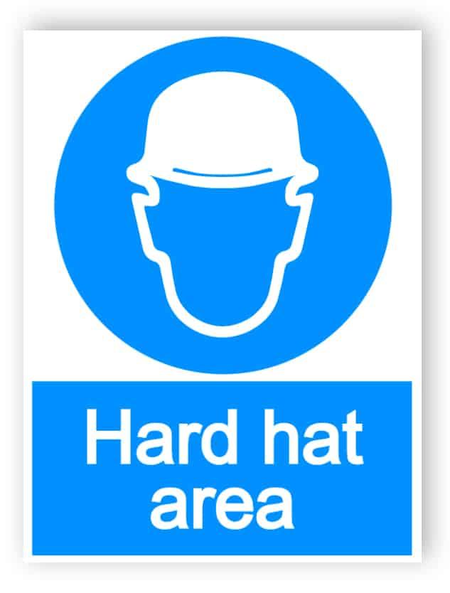 Hard hat area - portrait sign