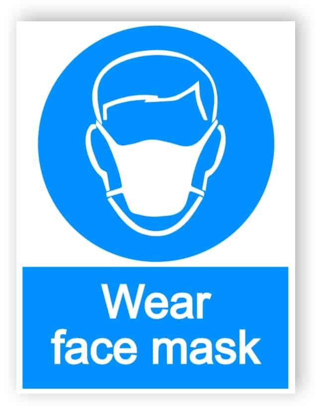 Wear face mask 1 - portrait sign