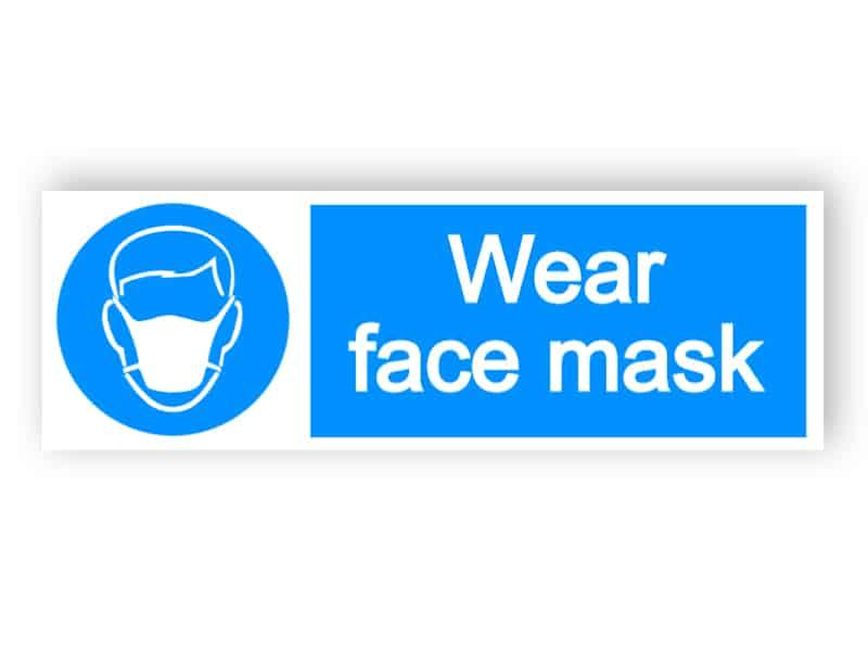 Wear face mask 1 - landscape sign