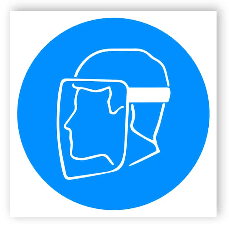 Full face mask sign