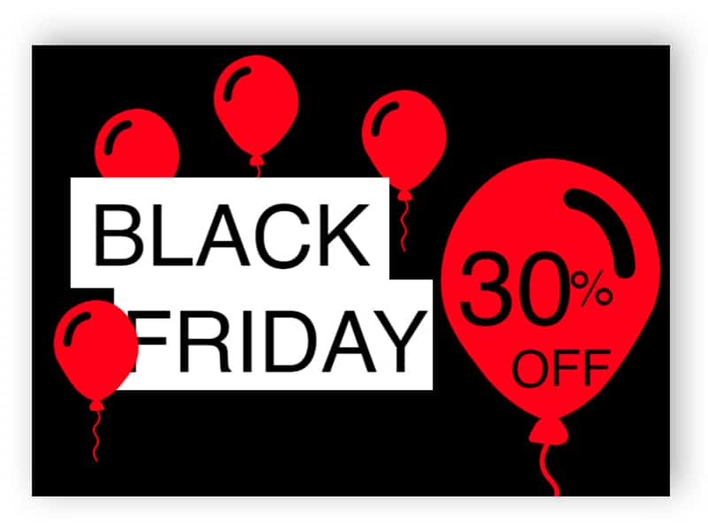 Black friday - red and black landscape sign