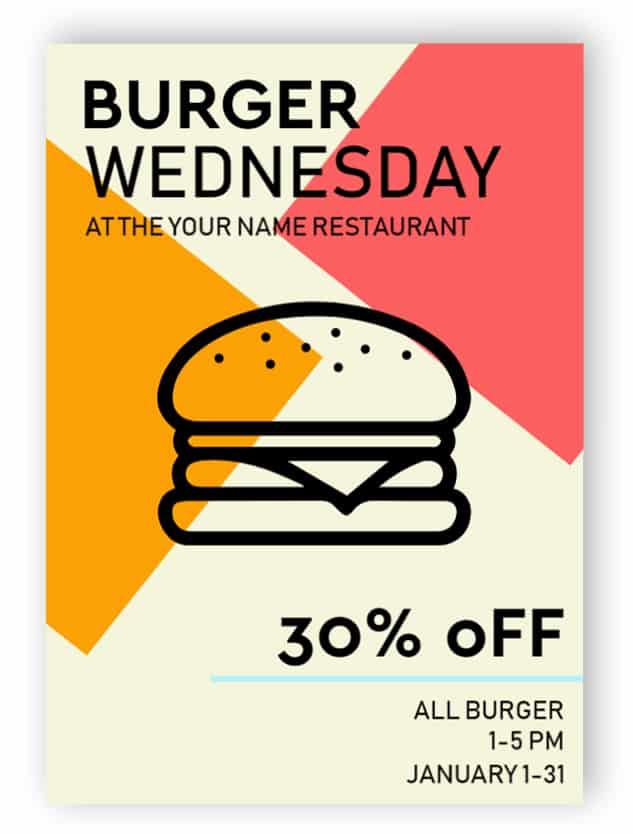Burger advertising sign