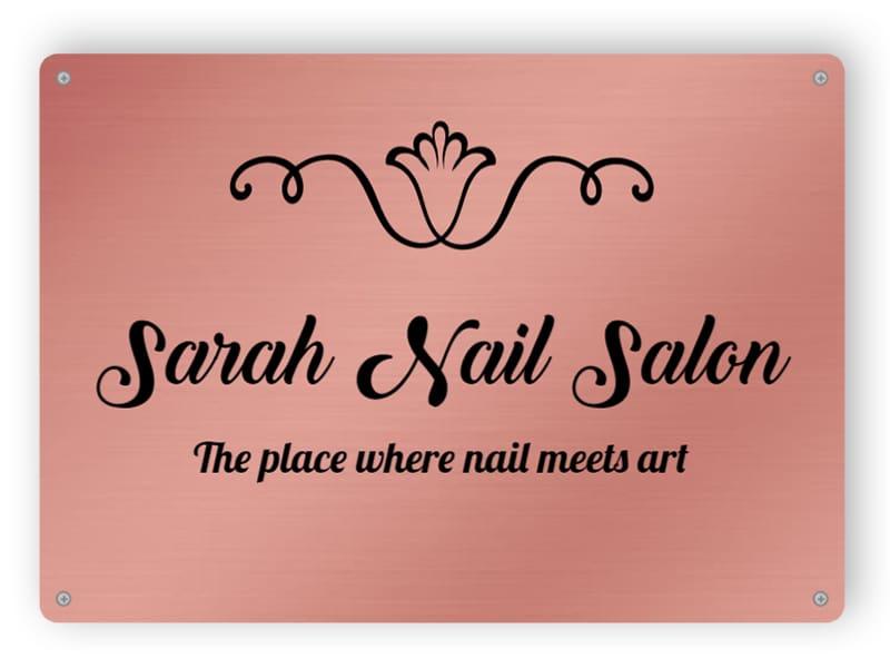Nail salon sign