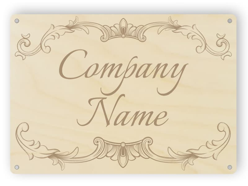 Custom wooden company sign