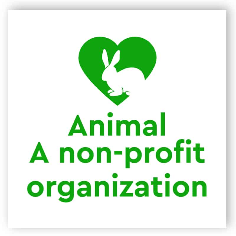 Animal a non-profit organization sign