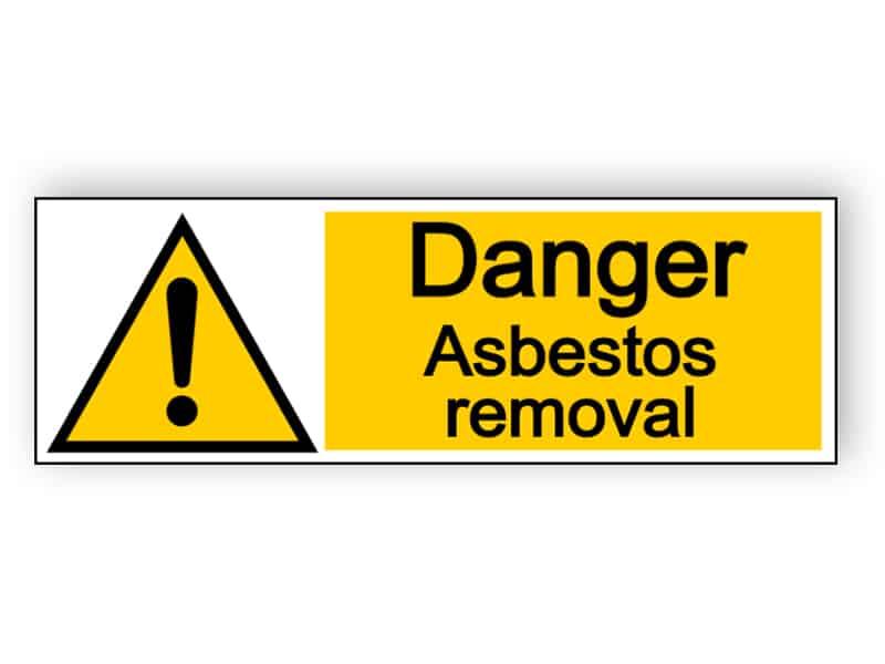 Danger asbestos removal - landscape sign