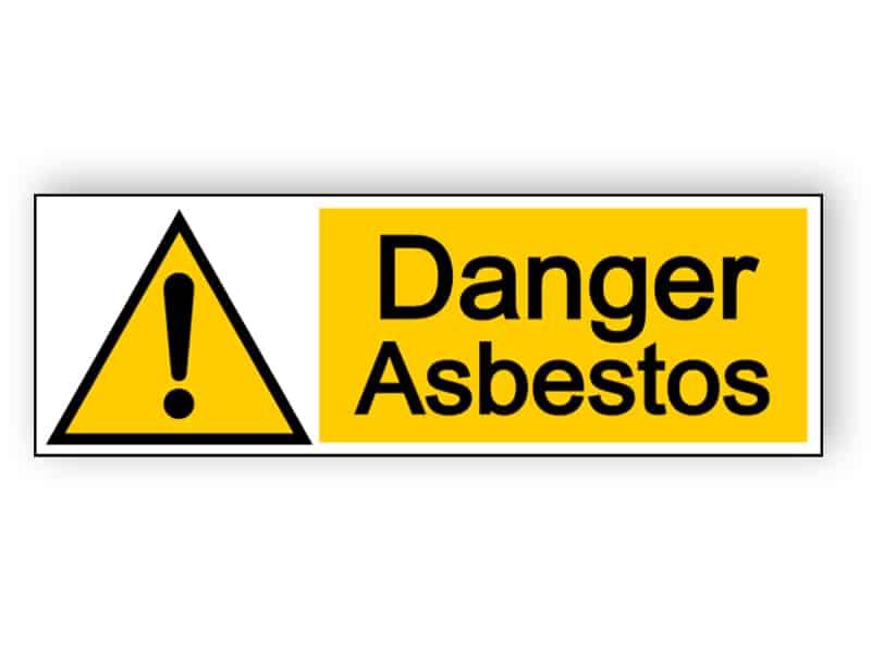 Danger asbestos - landscape sign