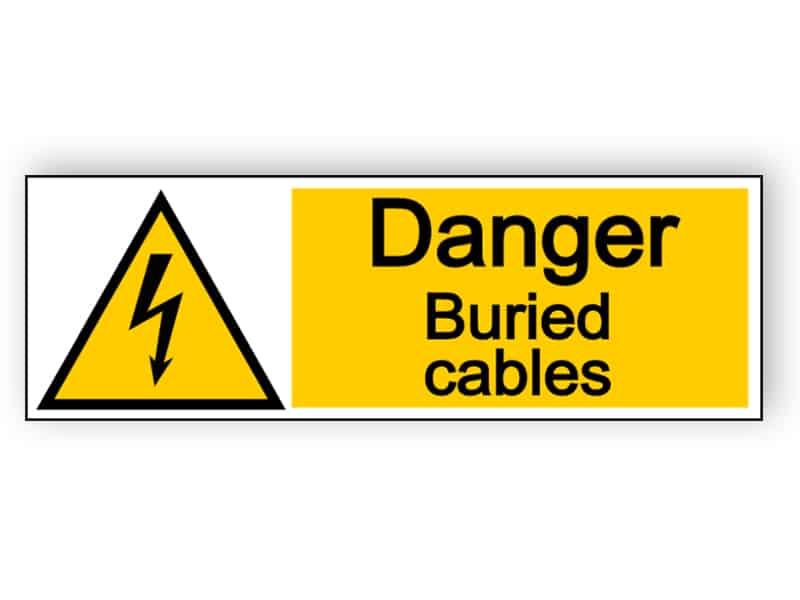 Danger buried cables - landscape sign
