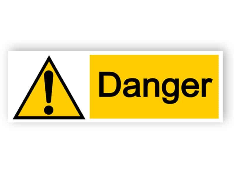 Danger - landscape sign