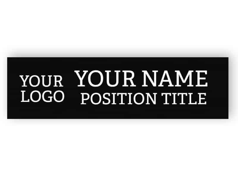 Custom black name plate